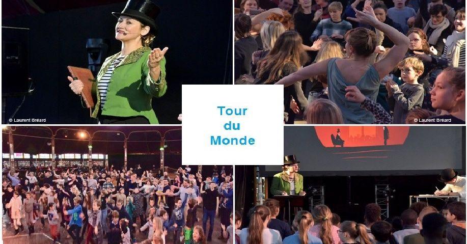 TOUR DU MONDE : Spectacle interactif, dansé et dessiné